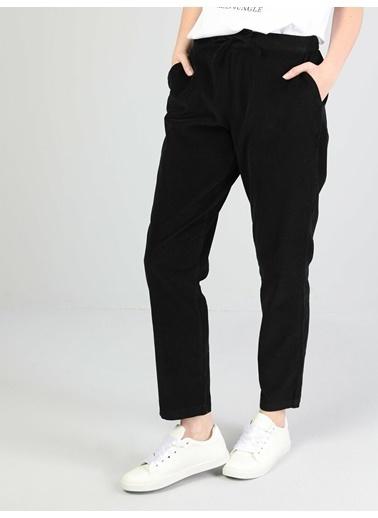 Colin's Regular Fit Orta Bel Düz Paça Kadın Kahverengi Pantolon Siyah